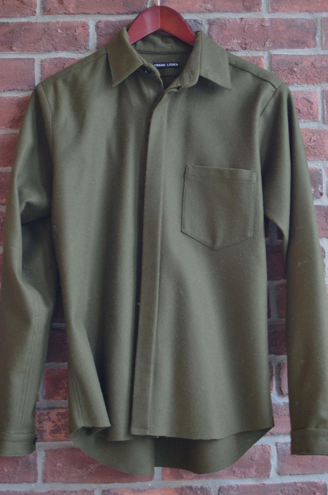 Frank Leder Winter Weight Wool Shirt Size US S / EU 44-46 / 1